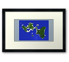 The Islands - Minecraft 3D Render Framed Print