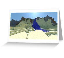 Life - Minecraft 3D Render Greeting Card
