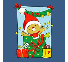Christmas Bear with presents Photographic Print