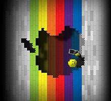 Lego Retro Rainbow Apple Logo – Landscape iPad Version by Alisdair Binning