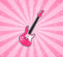 Girly Pink Electric Guitar  by runninragged