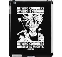 He Who Conquers Himself Is Mighty (Future Trunks) iPad Case/Skin