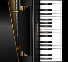 'Bosendipad' Grand Piano iPad Case by abinning