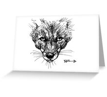 The Fox - Ink Drawing Greeting Card