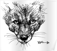 The Fox - Ink Drawing Poster