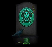 Madame Leota, the spirit we all know and love from the Haunted Mansion by Topher Adam iPad Cover by TopherAdam