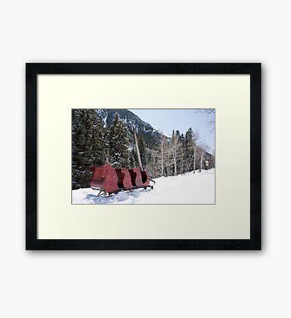 Ashcroft Sleigh Framed Print