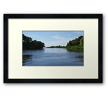 Beautiful Blue's On Turtle Bayou Framed Print