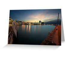 Sunset on the Ij Greeting Card