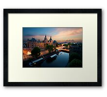 Sunset at the Rijksmuseum Framed Print