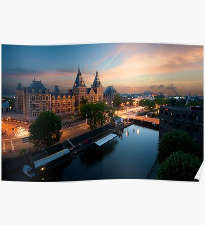 Sunset at the Rijksmuseum Poster