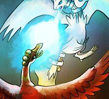 Ho-oh Vs. Reshiram by Peregrine-Shiba