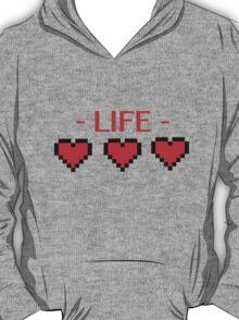 Retro Gaming Life Hearts T-Shirt