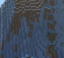 The Cliffs - Minecraft 3D Render Sticker
