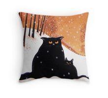 Lou-Lou and Lolas' snowflake wish. Throw Pillow