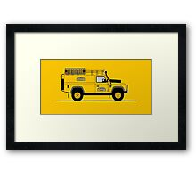 A Graphical Interpretation of the Defender 110 Hard Top Camel Trophy Framed Print