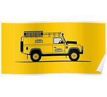 Land Rover Defender 110 Hard Top Camel Trophy Poster