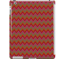 Red, Olive Green, Black Chevron Stripes iPad Case iPad Case/Skin