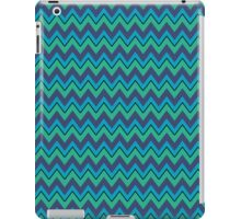 Navy, Turquoise, Green Chevron Stripes, iPad Case iPad Case/Skin