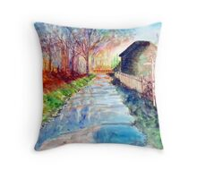 A Country Scene Throw Pillow