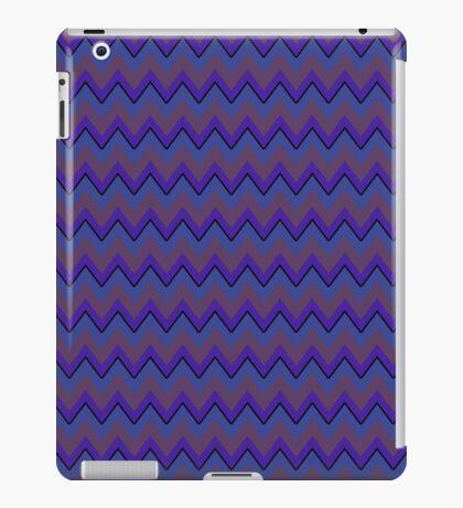 Purple and Periwinkle Chevron Stripes, Trendy iPad Case iPad Case/Skin