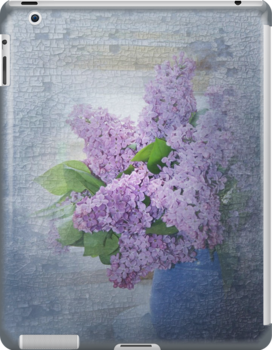 Lavender Blue IPad Case by jewelskings