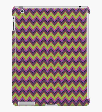 Peridot, Purple and Gray Chevron Stripes iPad Case iPad Case/Skin