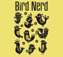 Bird Nerd - black Kids Clothes