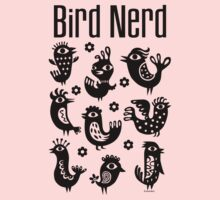 Bird Nerd - black Kids Clothes