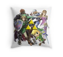 Legend Of Zelda Characters Throw Pillow