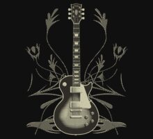 Halftone Guitar and Tribal Graphics by bradyarnold