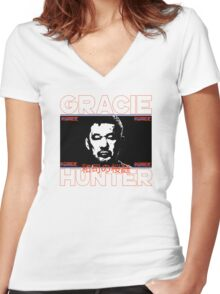 the gracie hunter Women's Fitted V-Neck T-Shirt