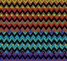 Funky Chevrons, Colorful iPad Case by Cherie Balowski