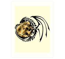 Dungeons and Dragons - Black and Gold! Art Print