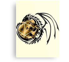 Dungeons and Dragons - Black and Gold! Metal Print