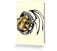 Dungeons and Dragons - Black and Gold! Greeting Card