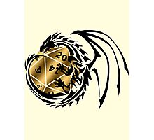 Dungeons and Dragons - Black and Gold! Photographic Print