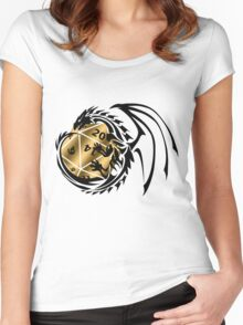 Dungeons and Dragons - Black and Gold! Women's Fitted Scoop T-Shirt