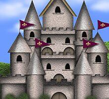 The Castle iPad Case by Cherie Balowski