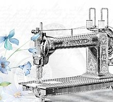 Sewing machine poster by franceslewis