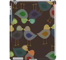 Brown Textured Look, Whimsical Birds iPad Case iPad Case/Skin