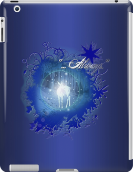 "I-Pad case ""Silver Doe - Always"" by scatharis"