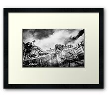 The knight of freedom Framed Print