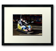 BUMPER CARS . Framed Print