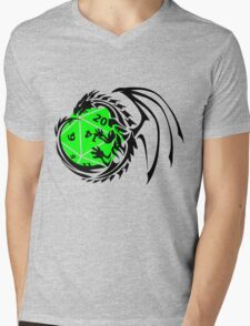 Dungeons and Dragons - Black and Green! Mens V-Neck T-Shirt