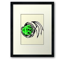 Dungeons and Dragons - Black and Green! Framed Print