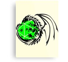 Dungeons and Dragons - Black and Green! Metal Print