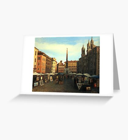 Piazza Navona in Rome Greeting Card