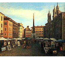 Piazza Navona in Rome Photographic Print