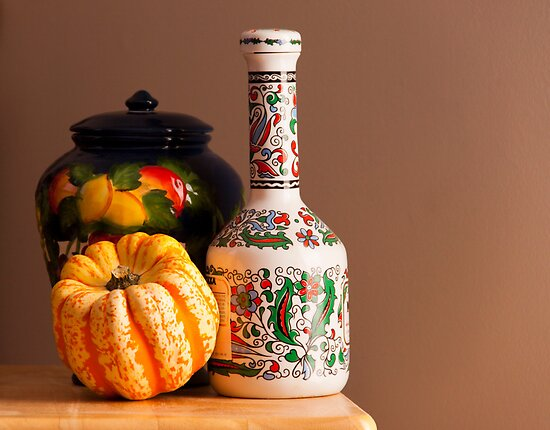 Squash, Bottle, and Cookie Jar by Jay Gross